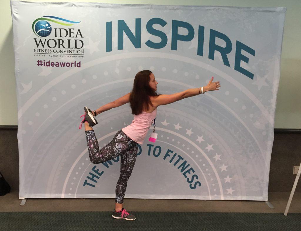Fitness at IDEA World: Dancer pose