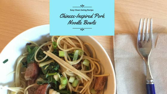 This easy pork noodle bowl recipe makes for a tasty, healthy weeknight meal. And it's gluten-free!